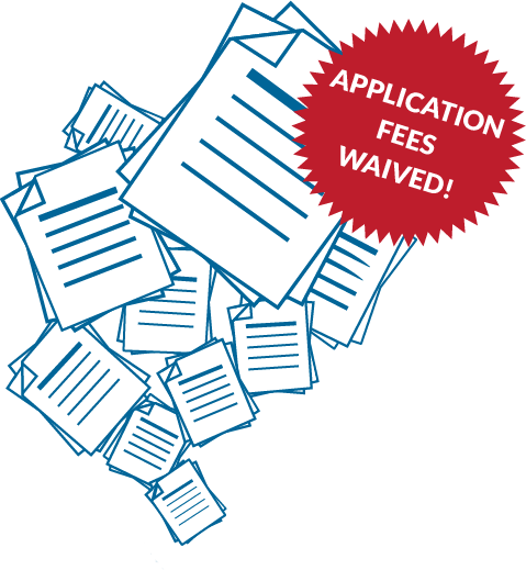 University application fees waived!